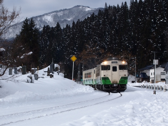 Tadami Line in Mishima Town