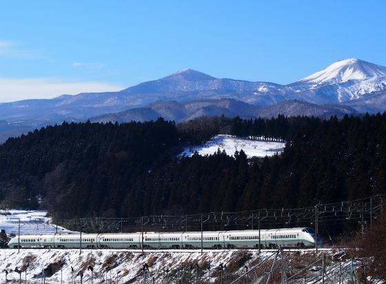 Yamagata Shinkansen and Mt. Azumakofuji