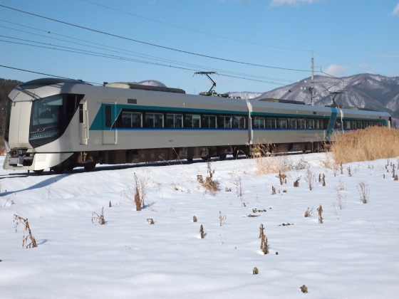 Limited express Revaty on Aizu Railway
